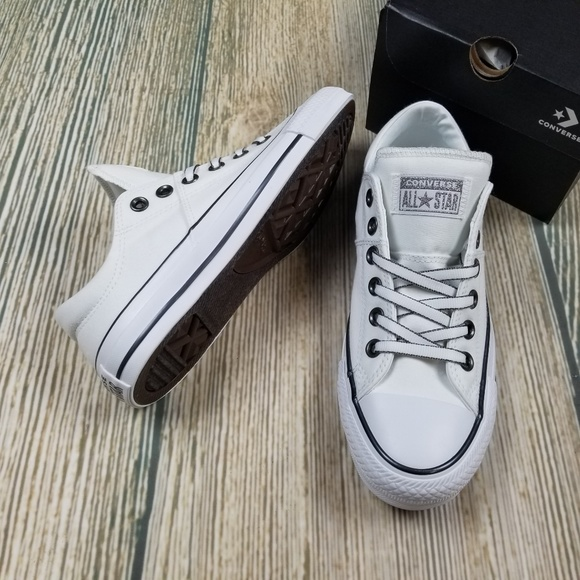 c1449690aaede7 New CONVERSE white and gunmetal low top sneakers